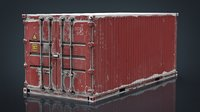 3D container red