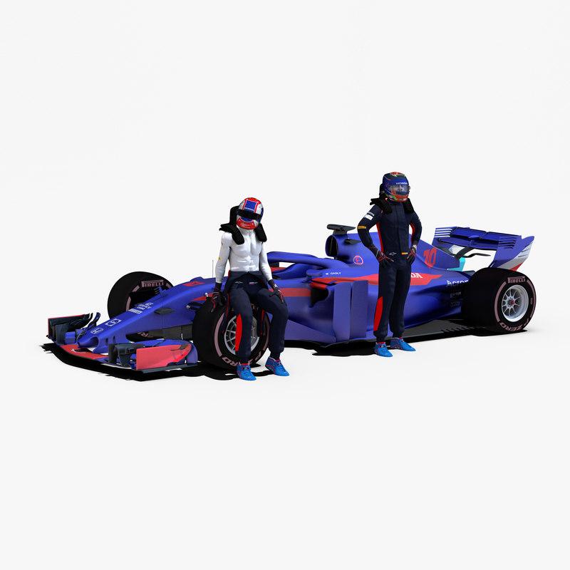 rigged f1 car 3D model