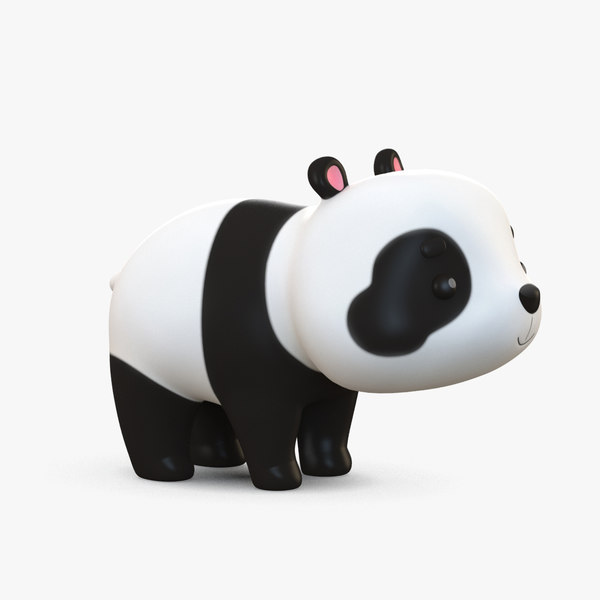 cute cartoon panda bear model