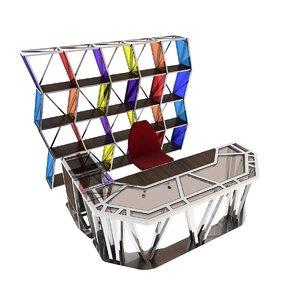 3D desk shelf