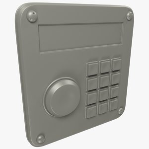 keypad buttons 3D model