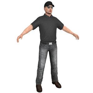 truck driver 3D model