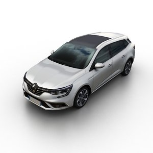 3D 2016 renault megane estate model