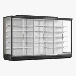 3D supermarket freezer tecto 3 model