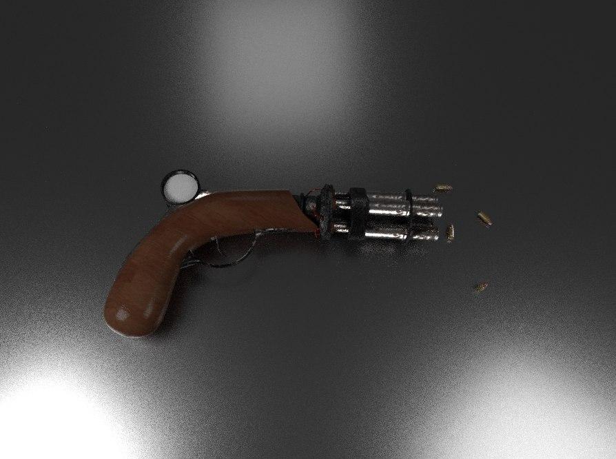 steampunk gun model