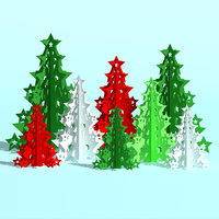 3D christmas tree forest model