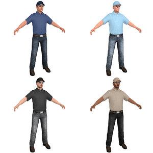 pack truck driver s 3D model