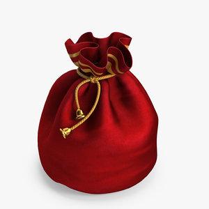 santa bag 3D model