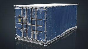 3D container blue model