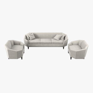 diamond lounge sofa chairs 3D model