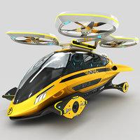 individual aircraft taxi 3D model