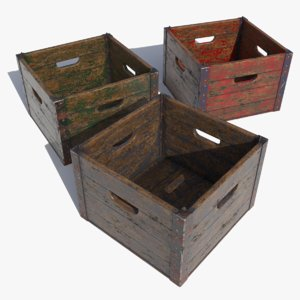 nextgen wooden crate contains 3D model