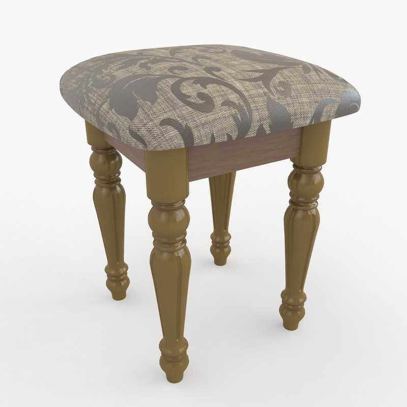 3D stool carved kitchen