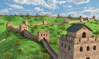 great wall china 3D model