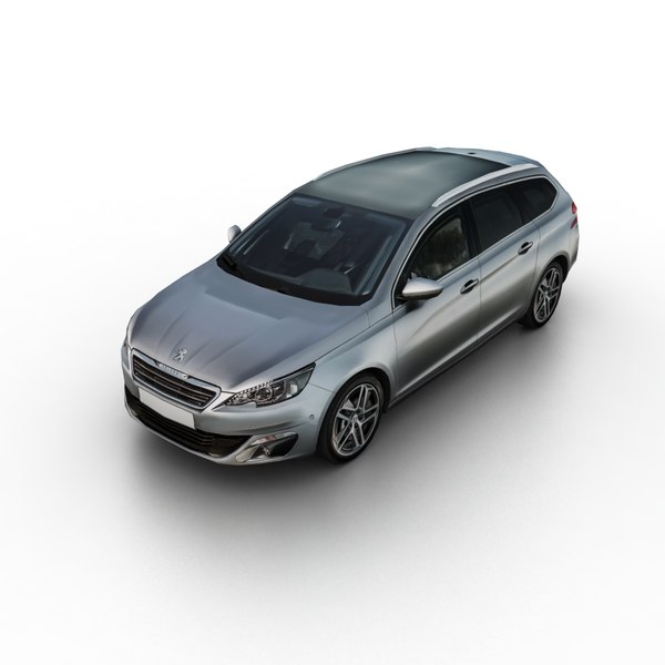 3D 2015 peugeot 308 sw model