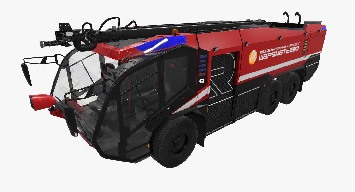 rosenbauer panther 6x6 3D