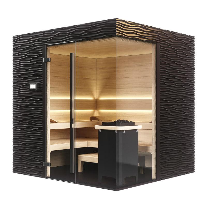 3D klafs design sauna shape