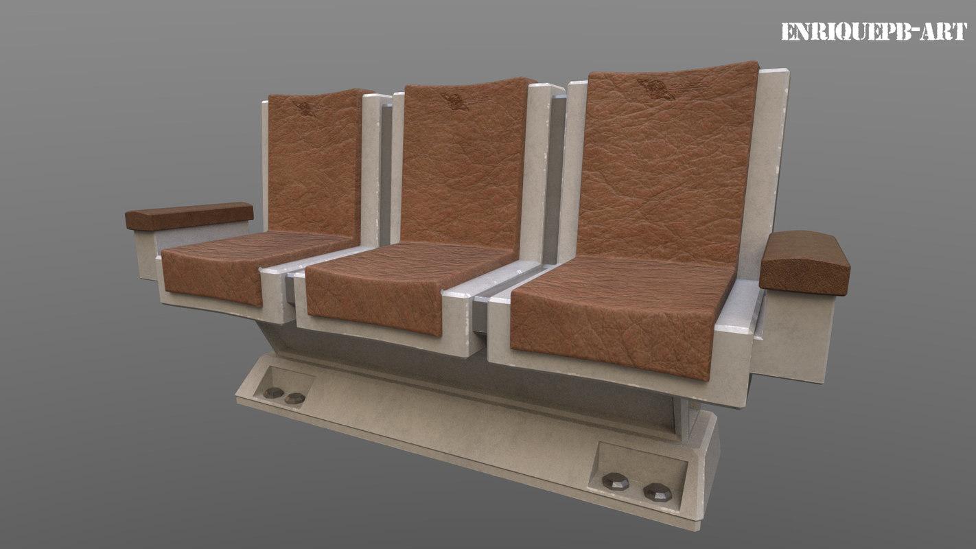 scifi sofa 3D model