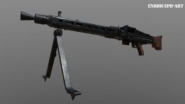 3D mg42 world war model