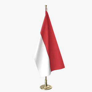 indonesian office flag model