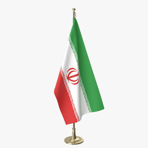 3D iranian office flag model