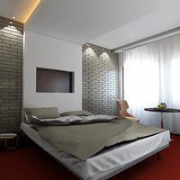 3D hotel room model