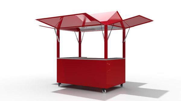 kiosk modo 3D model