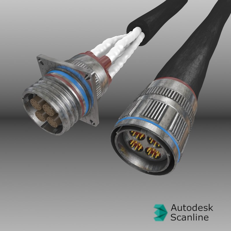 aircraft connectors - te ceelok fas-x 3d