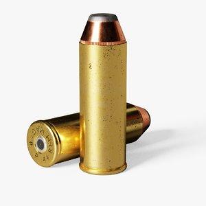44 magnum cartridge 3D model