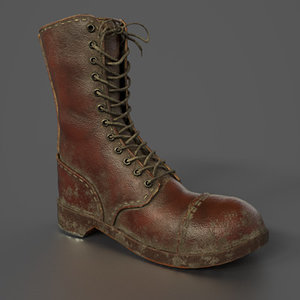 3D model ww2 army boot