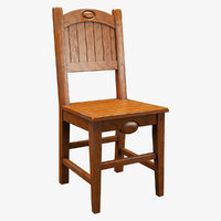 3D realistic chair