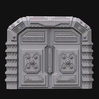 3D sci fi door