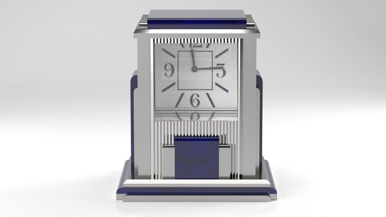 mystery clock prism art deco 3D model