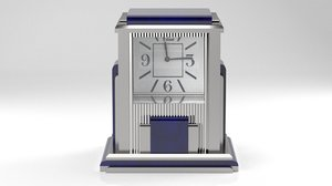 mystery clock prism art deco 3D model