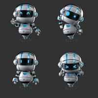 robot cute bot 3D