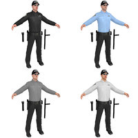 pack security guard 3D model
