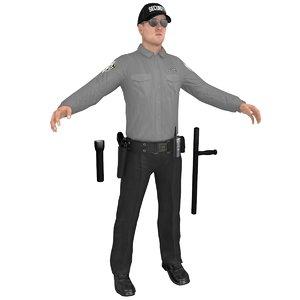 3D security guard model