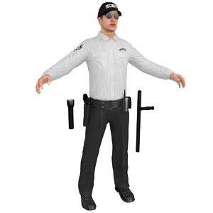 security guard 3D model