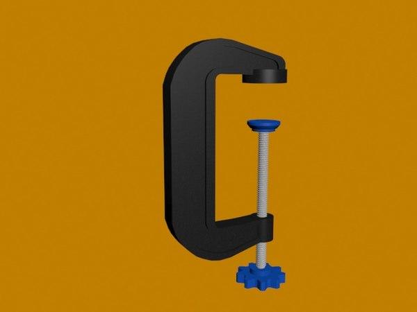 3D g clamp model
