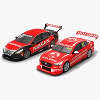 3D australian v8 supercars race car