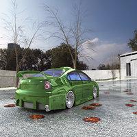 street racing car 3D model