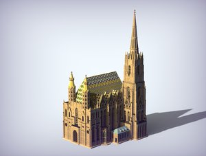 3D model st stephen s cathedral