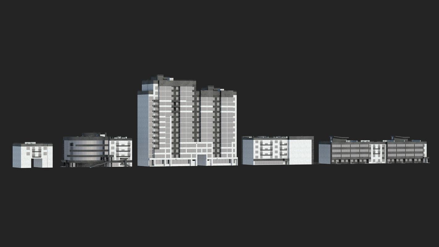 residential buildings 3D