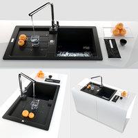 3D model kitchen sink franke