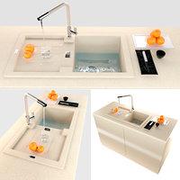 3D kitchen sink franke sakhara model