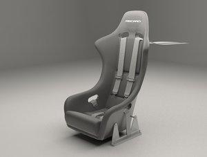 racing seat 3D