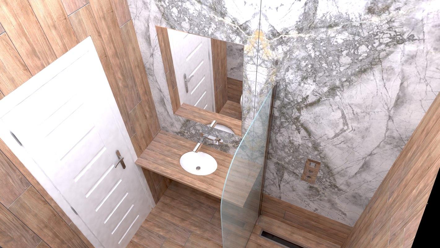3D model bathrooms design