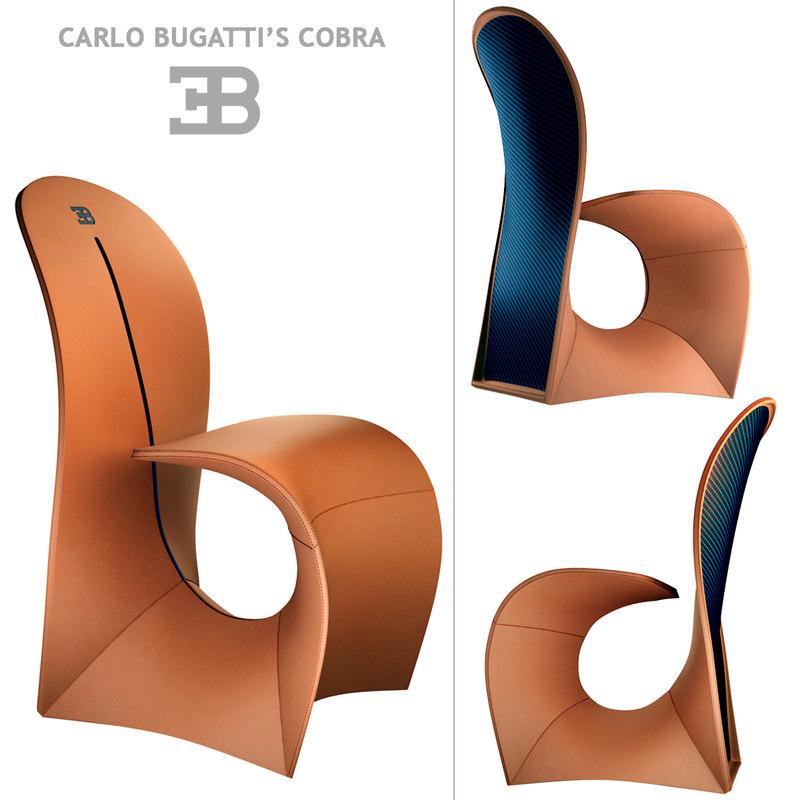 carlo chair cobra 3D model
