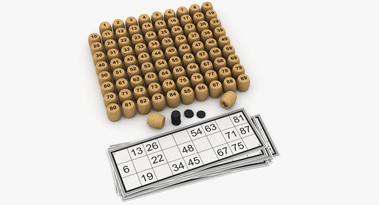 bingo keg card 3D model