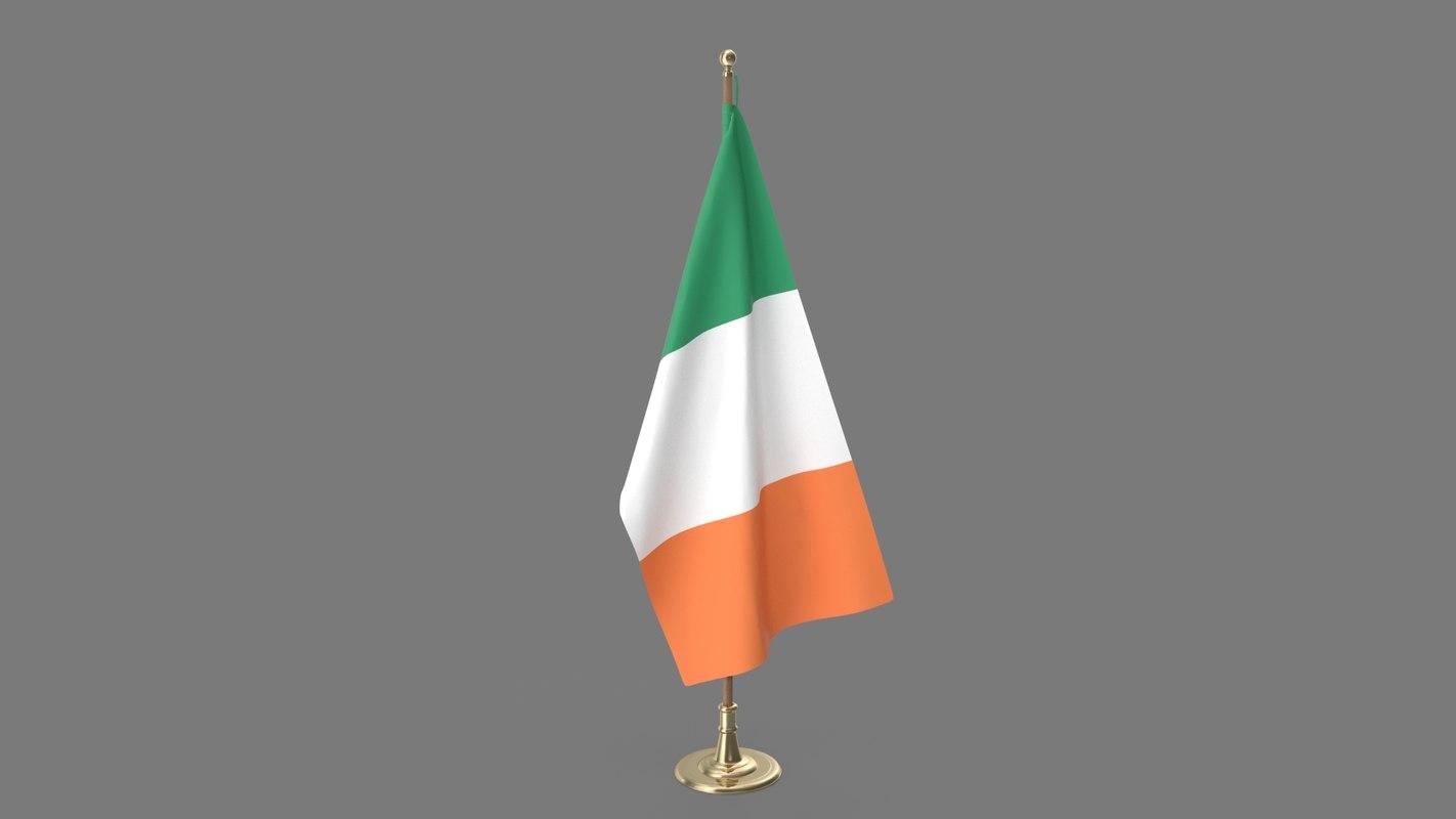 irish office flag 3D